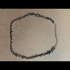 Black and silver Icing Choker